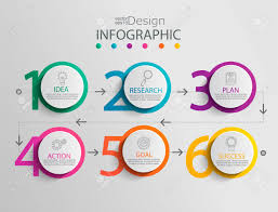 Chart Paper Presentation Paper Infographic Template With 6 Circle Options For Presentation