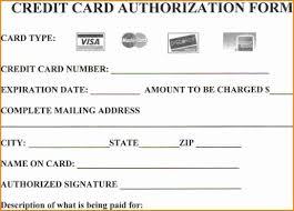 Credit Card Release Form Credit Card Form Template Word Under Fontanacountryinn Com