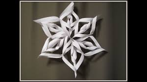 How To Make A 3d Snowflake Paper Snowflake Art And Craft For Kids How To Make 3d Christmas Decoration