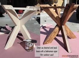 DIY X-Brace Concrete Side Table Plans | Step 10