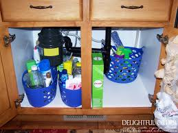 Under Kitchen Sink Organizing Delightful Order Organizing Under The Kitchen Sink