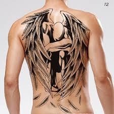 B Top Dočasné Tetování Na Záda Motiv Anděl černá