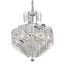 elegant lighting spiral 18 in 8 light chrome crystal crystal waterfall chandelier