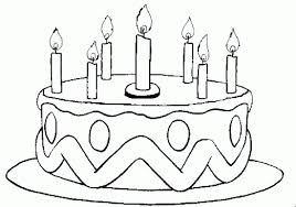 Small Picture Birthday Cake Coloring Page Crafts and Worksheets for Preschool