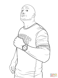 Rock Coloring Pages Wwe Dwayne The Johnson Page Free Printable 1526