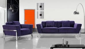 Microfiber Living Room Furniture Sets Modern Microfiber 3pc Italian Living Room Set Monin Purple