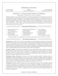 Resume Entry Level Mba Resume