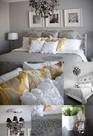 Bedroom:Bedrooms Gray White Yellow Bedroom Grey And Beautiful Chevron Decor  Images Accessories Curtains Inspiration