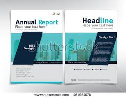 business report cover page template modern white blue business cover page stock vector 461955676