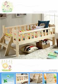 Child Bed Design Wood Us 579 6 15 Off Solid Wood Children Bed Multifunctional Widen Child Kids Wooden Bed Durable Pine Wood Guardrail Bed With Ladder In Children Beds