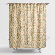 Watercolor Ogee Shower Curtain