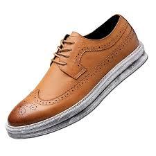 yanxu fashion leather sneaker wingtip
