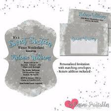 Invitations Quinceanera Details About Winter Wonderland Sweet Sixteen Invitations Quinceanera Matching Envelope