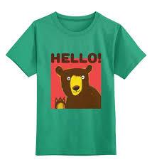 Детская футболка классическая унисекс Привет, Мишка ...