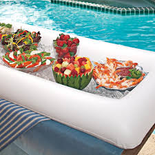 How To Decorate Salad Tray Summer Party Inflatable Salad Bar Buffet Ice Bucket Outdoor Swimming 69