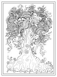 Adult Colouring In Pdf Download Tree Dragonfly Henna Zen Mandalas