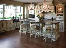 antique white kitchen ideas. Classic And Antique White Kitchen Cabinets Design Using Woodnen Material Rustic Chandelier Lighting Ideas