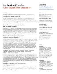 Ux Resume Designer Based In San Diego Ca By Katherine