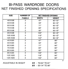 door openings amp bifold door sizes rough opening btca