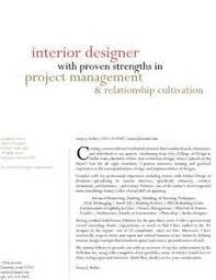 interior design employment   sobhezohoorinterior design resume cover letter samples
