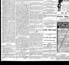 Sunday Morning Herald Olean Ny 1882 1883 December 27 1884
