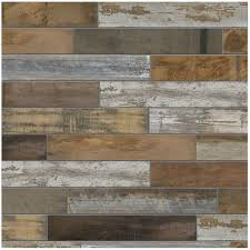 Home Depot Kitchen Floors Marazzi Montagna Wood Vintage Chic 6 In X 24 In Porcelain Floor