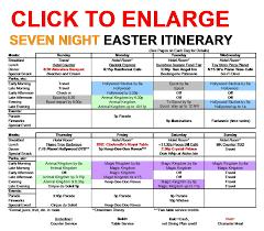 Seven Night Walt Disney World Easter Itinerary Yourfirstvisit Net