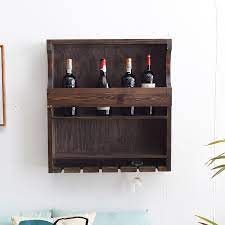 china solid wood wall hanging wine rack