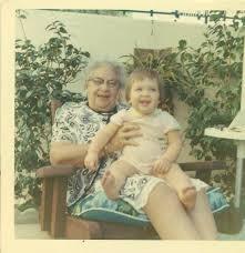 1960s Toddler Girl Sitting on Grandma's Lap Happy 60s | Etsy