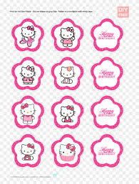 Diy Free Hello Kitty Cupcake Topper Hello Kitty Printable