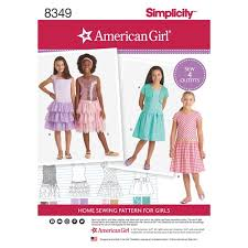 Simplicity Pattern Enchanting Simplicity Pattern 48 American Girl Child's Dress and Knit Shrug