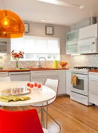 cute mid century modern lighting in midcentury kitchen