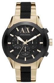 armani exchange ax1222 black dial gold tone chronograph men s armani exchange ax1222 black dial gold tone chronograph men s watch