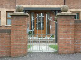 hammered edge garden gate
