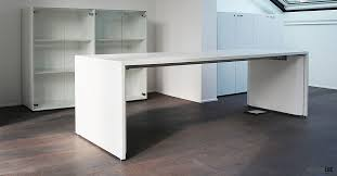The long panel desks offer a stylish alternative to a standard desk layout.  Description from