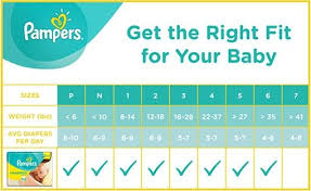 Pampers Swaddlers Diapers Baby Things Pampers Size Chart