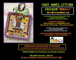 2019 2020 Booville Halloween Monthly Ornament Clubdesigns