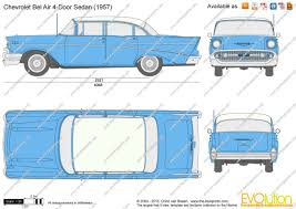 The-Blueprints.com - Vector Drawing - Chevrolet Bel Air 4-Door Sedan