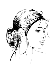 Beauty Girl Face On A White Background Fashion Girl Vector