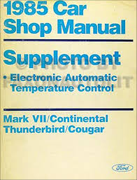 1985 lincoln continental mark vii electrical troubleshooting manual