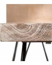 white washed mango wood. Wanderloot Manhattan White Wash Mango Wood End Table With Shelf And Hairpin  Legs, Beige White Washed Mango Wood I