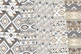 Boho Patterns Classy Neutral Boho Seamless Patterns By Aveni Design Bundles