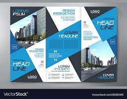 Interior Design Brochure Template Best Brochure 4444 Fold Flyer Design A44 Template Vector Image