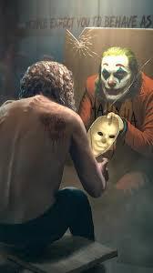 the joker mirror mask iphone wallpaper