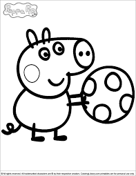 George Playing With A Ball Peppa Pig Coloring Page Coloring