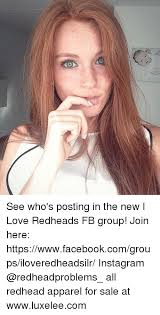 It love redhead who