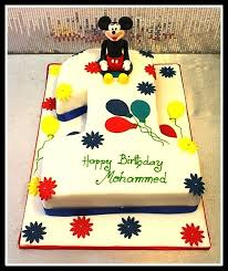 First Birthday Cake Mickey Mouse