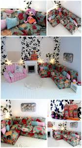 homemade barbie furniture ideas. Incredibly Detailed #dollhouse Plus Instructions On How To Make A Dolls Corner Couch. By. Dollhouse IdeasHomemade Homemade Barbie Furniture Ideas