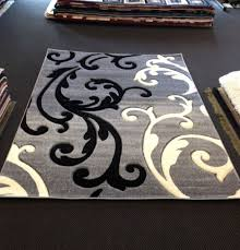 creative damask area rug black and white decorative gray rugs for home with artistic
