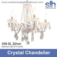 cc1 108 5 silver crystal e14 chandelier semba lighting house inside silver crystal chandelier